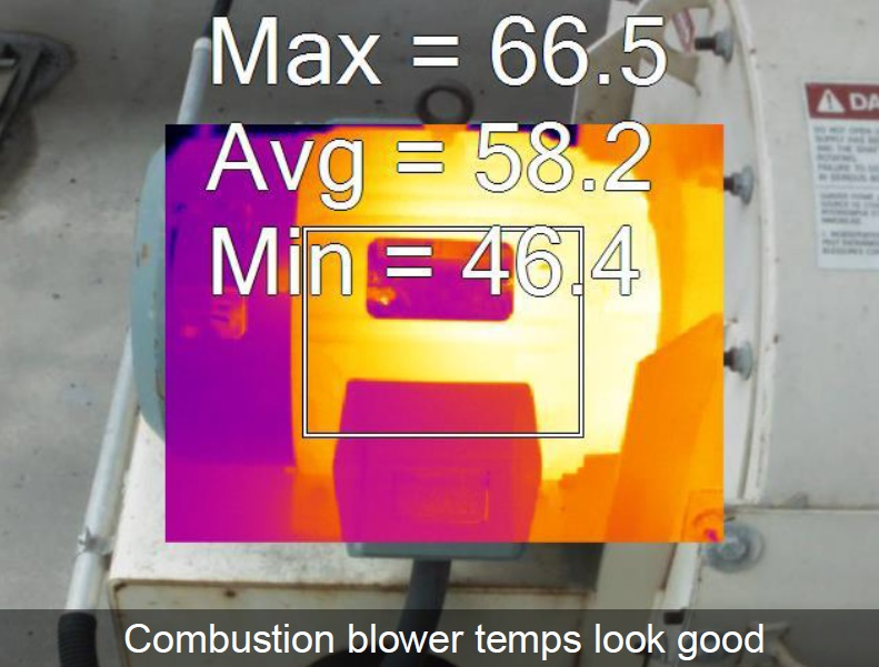 Temperature analysis of a combustion blower